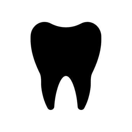 Silhouette of tooth. Simple icon
