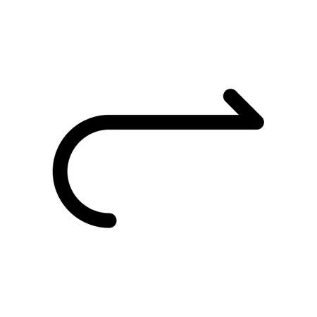 Simple arrow, forward. Navigation icon. Simple arrow, backward. Navigation icon. Linear symbol with thin line. One line style