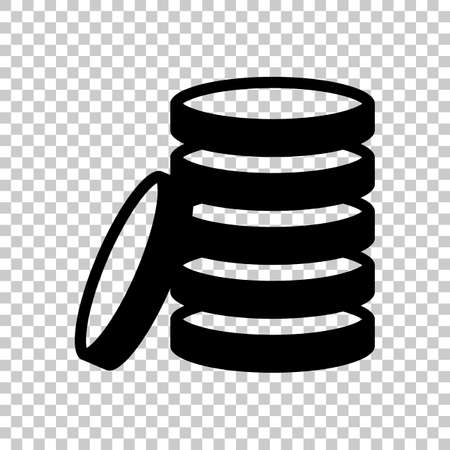 Coin stack icon. On transparent background. Imagens - 121822784