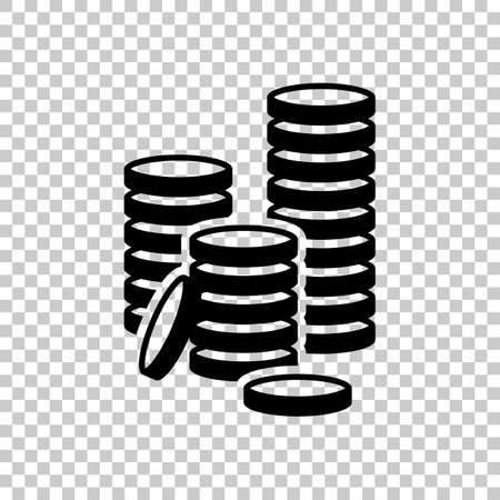 Coin stack icon. On transparent background. Imagens - 121822785