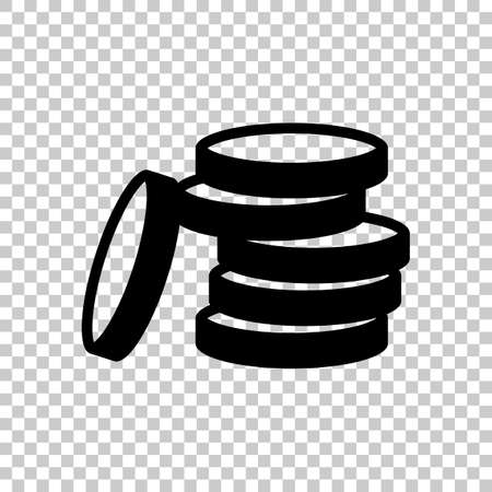 Coin stack icon. On transparent background. Imagens - 121822786