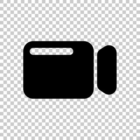Simple video camera icon. On transparent background. Imagens - 121822791