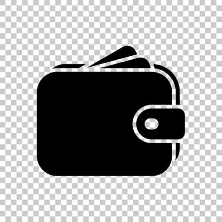 Purse, wallet, money icon. On transparent background. Imagens - 121822793