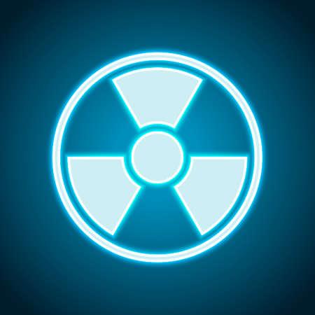hazard, radiation. simple silhouette. Neon style. Light decoration icon. Bright electric symbol Illustration