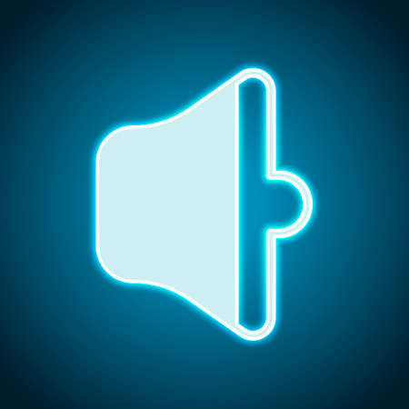 simple volume medium. Neon style. Light decoration icon. Bright electric symbol Ilustração