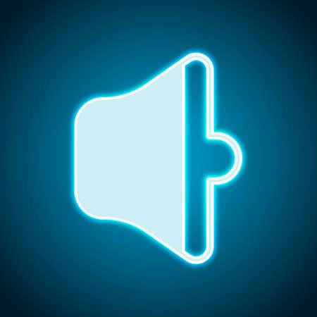 simple volume medium. Neon style. Light decoration icon. Bright electric symbol Illustration