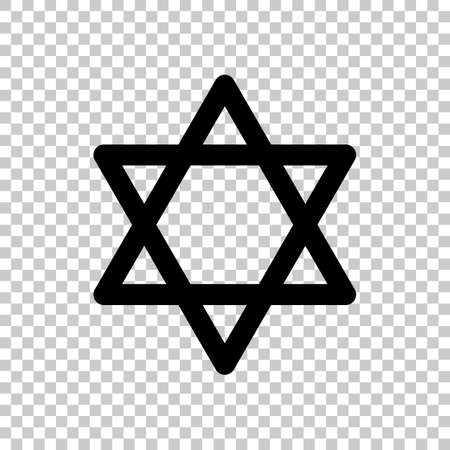 Star of david, simple icon. On transparent background.