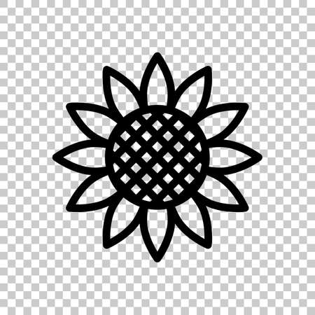 Sunflower, plant. Nature icon. On transparent background.