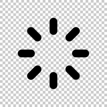 Loading or wait icon. On transparent background.