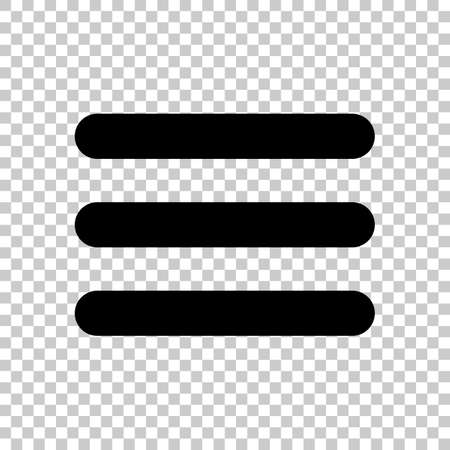 Hamburger menu. Web icon. On transparent background.