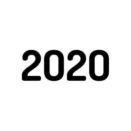 2020 number icon. Happy New Year