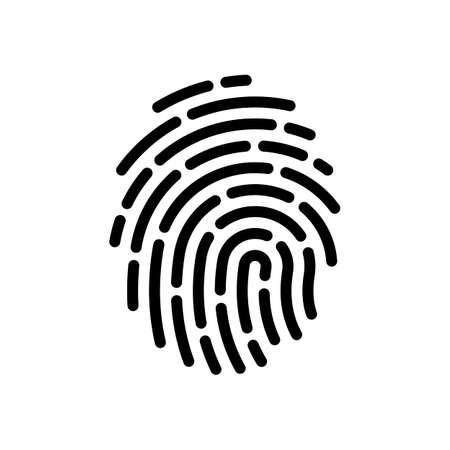 Fingerprint. Simple icon for logo or app. Black on white background