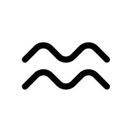 Astrological sign. Aquarius simple icon. Black on white background