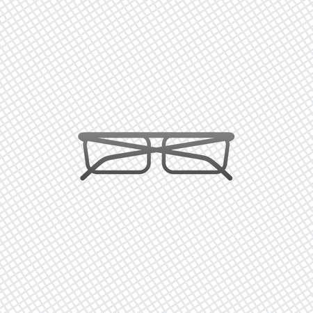 eyeglasses icon. On grid background