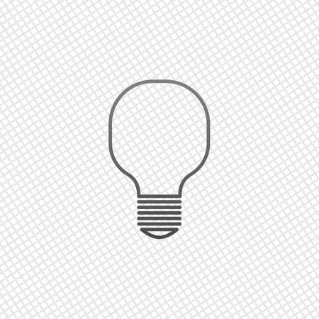 Light lamp icon. On grid background