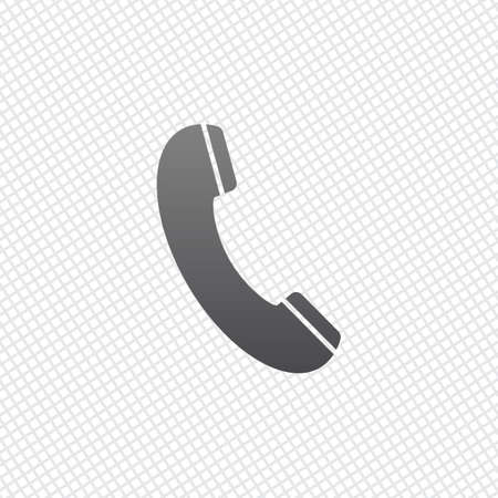 Telephone receiver icon. On grid background