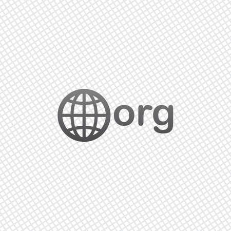 uno de los primeros dominios para organizaciones sin fines de lucro, mundo y org. En el fondo de la cuadrícula