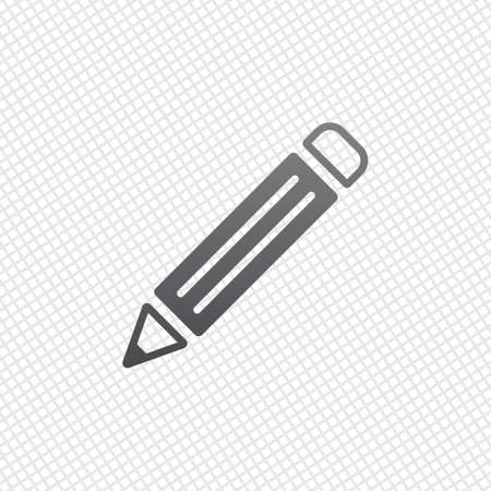 simple pencil symbol. On grid background