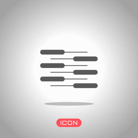 Double piano keyboard icon. Duet. Competition, Vertical view. Icon under spotlight. Gray background