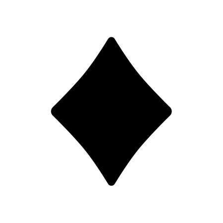 Diamonds, playing card game. Black icon on white background