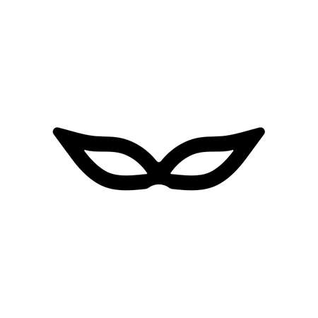 Masquerade mask, carnival or party. Black icon on white background  イラスト・ベクター素材