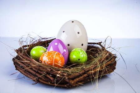 Ostern, Ei, Huhn, Kaninchen, Häschen Standard-Bild - 26100902