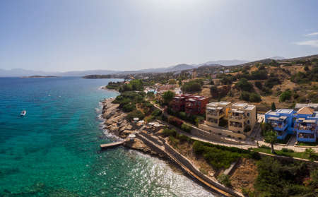 Greece, Candia park village a luxury holiday village in Crete Greece by the ocean in traditional colors 版權商用圖片
