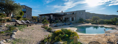 Agriturismo bed and breakfast at Sicily Italy, beautiful historical old farm renovated as BB Sicilia Archivio Fotografico