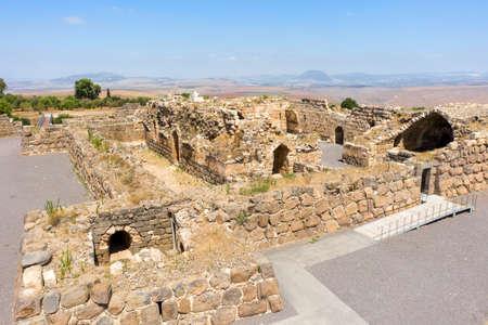 knights fortress Kochav HaYarden or Belvoir in Israel. aerial view Archivio Fotografico - 151809447