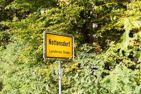 city limit: General city entrance sign Nottensdorf (Germany)