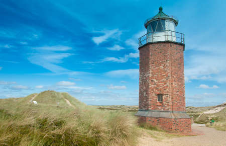 schleswig holstein: Lighthouse at Kampen, Sylt, Schleswig Holstein, Germany Stock Photo