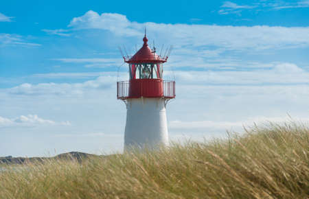 german north sea region: Lighthouse List West, Ellenbogen, Sylt, Schleswig-Holstein, Germany