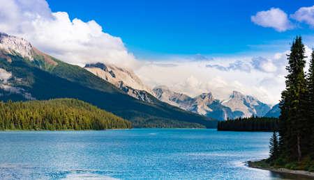 canadian rockies: Maligne Lake in the Canadian Rockies