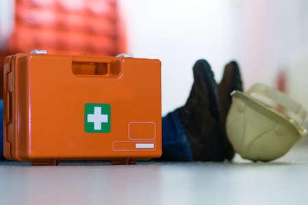 First aid after an accident at work Reklamní fotografie