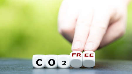 """Dice form the expression """"CO2 free""""."""