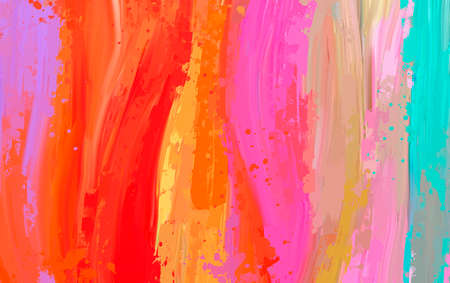 bright Abstract watercolor drawing on a paper image Imagens