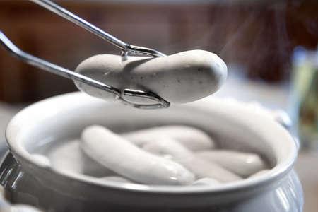 sausage pot: Weiwrste Bavarian veal sausage in pot