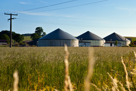 turnaround: Bio gas plant in a field