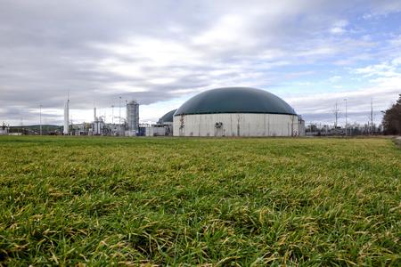 gas plant: Bio gas plant Stock Photo