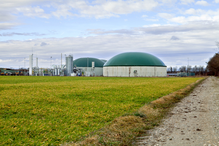 Biogas plant  Germany Stock Photo
