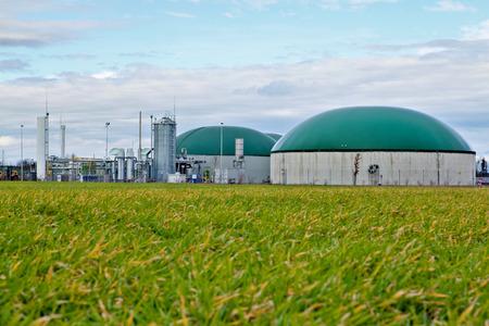 turnaround: Biogas plant  Germany Stock Photo