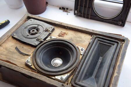 a Column speaker 15AS-208. Vintage Soviet bookshelf acoustics.