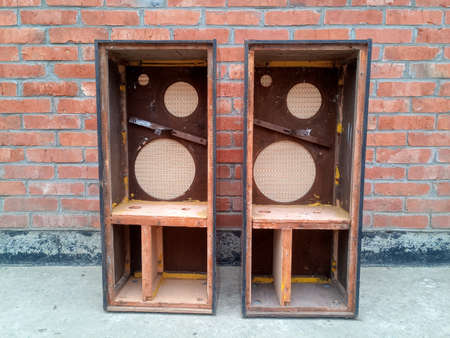 Cases from speakers Symphony 2. Retro acoustics of the 1960s.