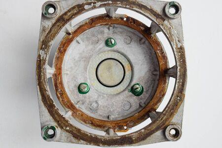 The magnetic system of the Soviet speaker 20gds-3. Disassembled mid-range speaker.