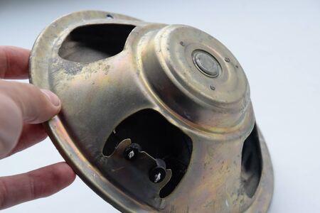Broadband speaker 5gdsh-4-4. a Old Soviet speaker.