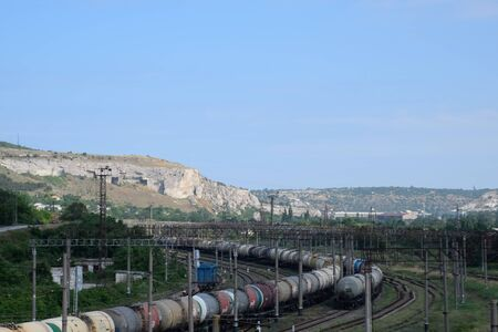 a Railroad tracks opposite the ancient quarry.