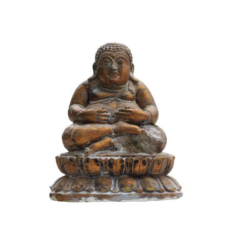 hotei Chinese  Ancient  god isolated in white photo