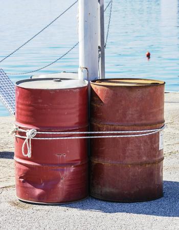 fuel storage: Diesel fuel storage barrel