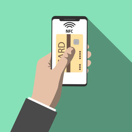 Icon technology NFC. Icon payment using NFC