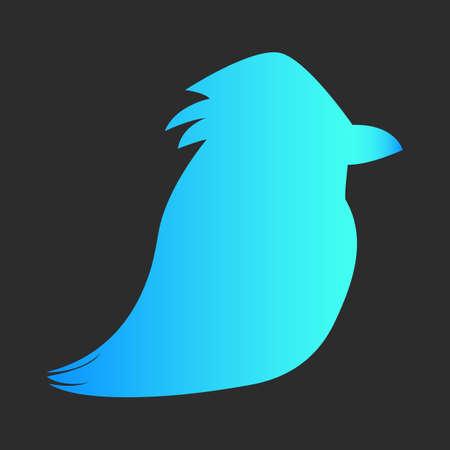 Bird gradient icon on dark background.